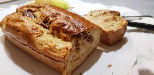 Cake poire chocolat sans sucre et sans beurre